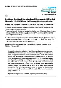Rapid and Sensitive Determination of