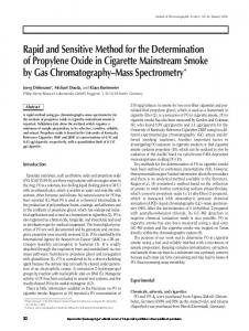Rapid and Sensitive Method for the Determination of Propylene Oxide ...