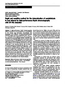 Rapid and sensitive method for the determination of acetaldehyde in ...