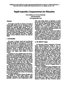 Rapid-Assembly Componentware for Education - Semantic Scholar