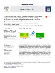 Rapid automatic identification and quantification of ...