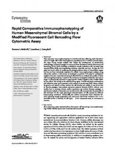 Rapid Comparative Immunophenotyping of ... - Wiley Online Library