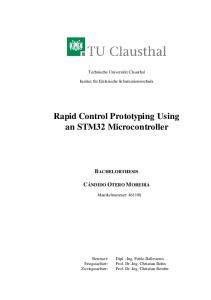 Rapid Control Prototyping Using an STM32