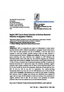 Rapid CRP test in early detection of bacterial infection ...