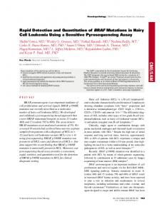 Rapid Detection and Quantitation of BRAF Mutations in Hairy Cell ...