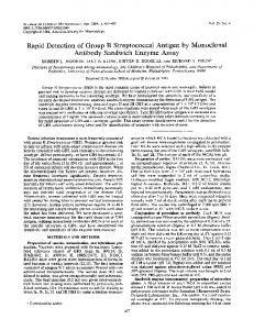 Rapid Detection of Group B Streptococcal Antigen by Monoclonal ...