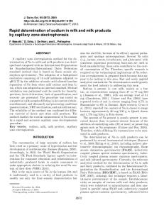 Rapid determination of sodium in milk and milk ... - Semantic Scholar