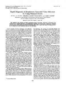Rapid Diagnosis of Respiratory Syncytial Virus Infection by Using ...