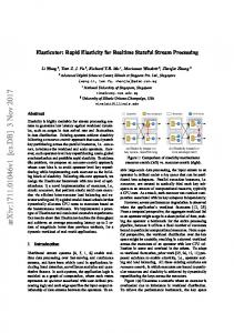Rapid Elasticity for Realtime Stateful Stream Processing - arXiv