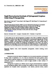 Rapid Electrochemical Synthesis of Hydrogenated Graphene Oxide ...