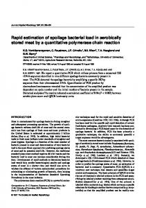 Rapid estimation of spoilage bacterial load in ... - Wiley Online Library