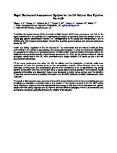 Rapid Geohazard Assessment System for the UK Natural Gas ... - Core