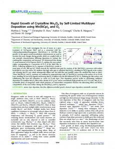 Rapid Growth of Crystalline Mn5O8 by Self-Limited Multilayer ...