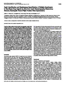 Rapid Identification and Simultaneous Quantification ... - Oxford Journals