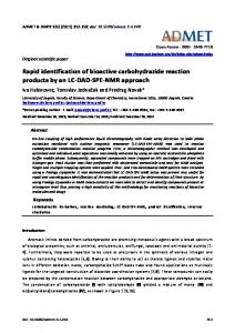 Rapid identification of bioactive carbohydrazide