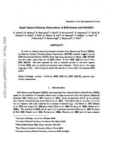 Rapid Optical Followup Observations of SGR Events with ROTSE-I