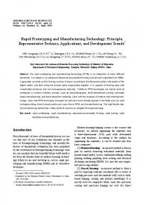 Rapid Prototyping and Manufacturing Technology ... - IEEE Xplore