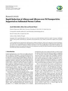 Rapid Reduction of Alkenes and Alkynes over Pd Nanoparticles