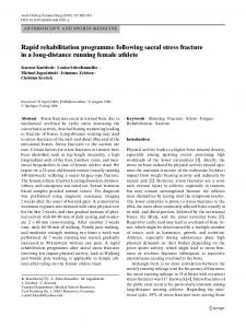Rapid rehabilitation programme following sacral ... - Semantic Scholar