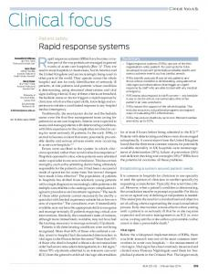 Rapid response systems