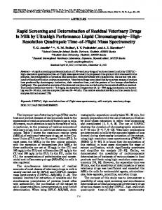 Rapid Screening and Determination of Residual