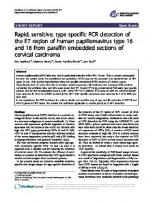 Rapid, sensitive, type specific PCR detection of the ... - BioMedSearch