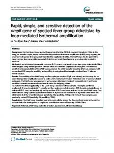 Rapid, simple, and sensitive detection of the ompB ... - Semantic Scholar
