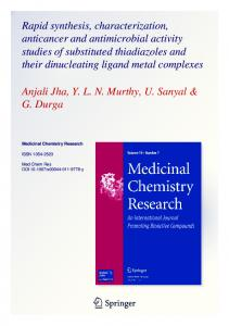 Rapid synthesis, characterization, anticancer and
