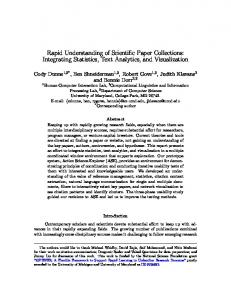Rapid Understanding of Scientific Paper Collections: Integrating ...