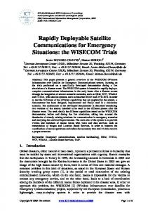 Rapidly Deployable Satellite Communications for ... - DLR ELIB