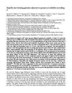 Rapidly star-forming galaxies adjacent to quasars at redshifts ... - arXiv