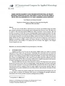 rare-earth element and thorium potential of heavy ... - Springer Link