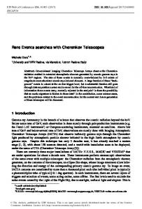 Rare Events searches with Cherenkov Telescopes - EPJ Web of ...
