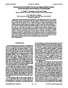 Rare-gas thermal desorption from flat and stepped platinum surfaces ...