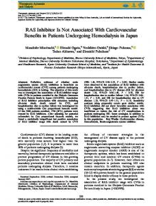 RAS Inhibitor Is Not Associated With ... - Wiley Online Library