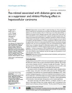 ras-related associated with diabetes gene acts as ... - Semantic Scholar