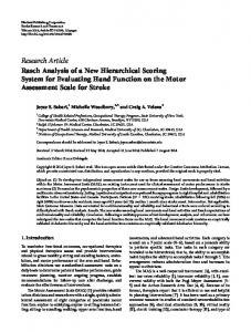 Rasch Analysis of a New Hierarchical Scoring System for Evaluating ...