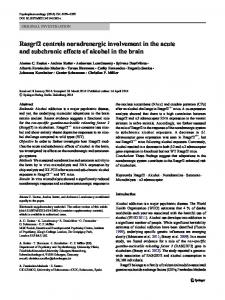 Rasgrf2 controls noradrenergic involvement in the ... - Springer Link