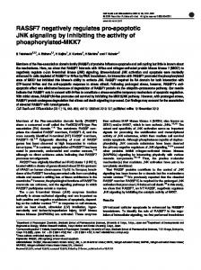 RASSF7 negatively regulates pro-apoptotic JNK signaling by ... - Nature