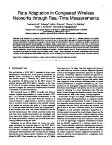 Rate Adaptation in Congested Wireless Networks through ... - CiteSeerX