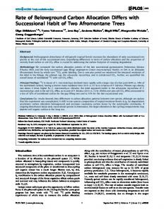 Rate of Belowground Carbon Allocation Differs with ... - ScienceOpen
