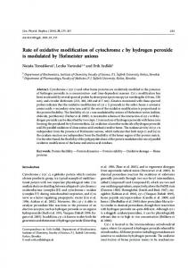 Rate of oxidative modification of cytochrome c by