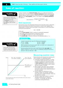 Rate of reaction Rate of reaction - Pearson Schools