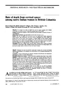 Rate ofdeath from cervical cancer - NCBI