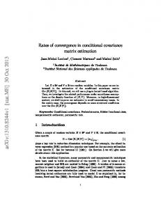 Rates of convergence in conditional covariance matrix estimation