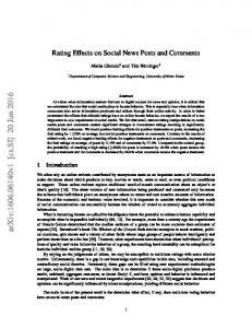 Rating Effects on Social News Posts and Comments