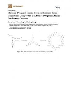 Rational Design of Porous Covalent Triazine-Based ... - MDPI