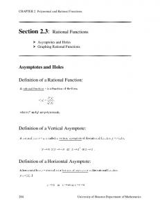 Rational Functions - Precalculus Section 2.3 - Math 1330 - Online ...