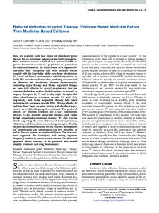 Rational Helicobacter pylori Therapy