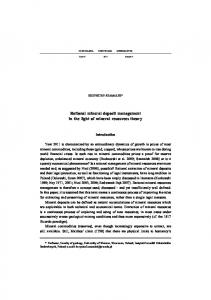 Rational mineral deposit management in the light of mineral resources ...